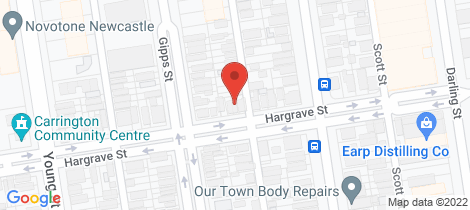 Location map for 25 Hargrave Street Carrington