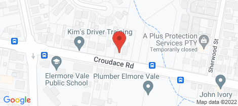 Location map for 56 Croudace Road Elermore Vale