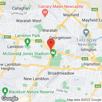 Map of O'Brien® Glass Newcastle at 11 Griffiths Rd, Lambton, NSW 2299