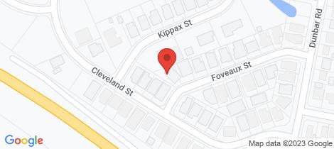 Location map for 20 Foveaux Street Cameron Park