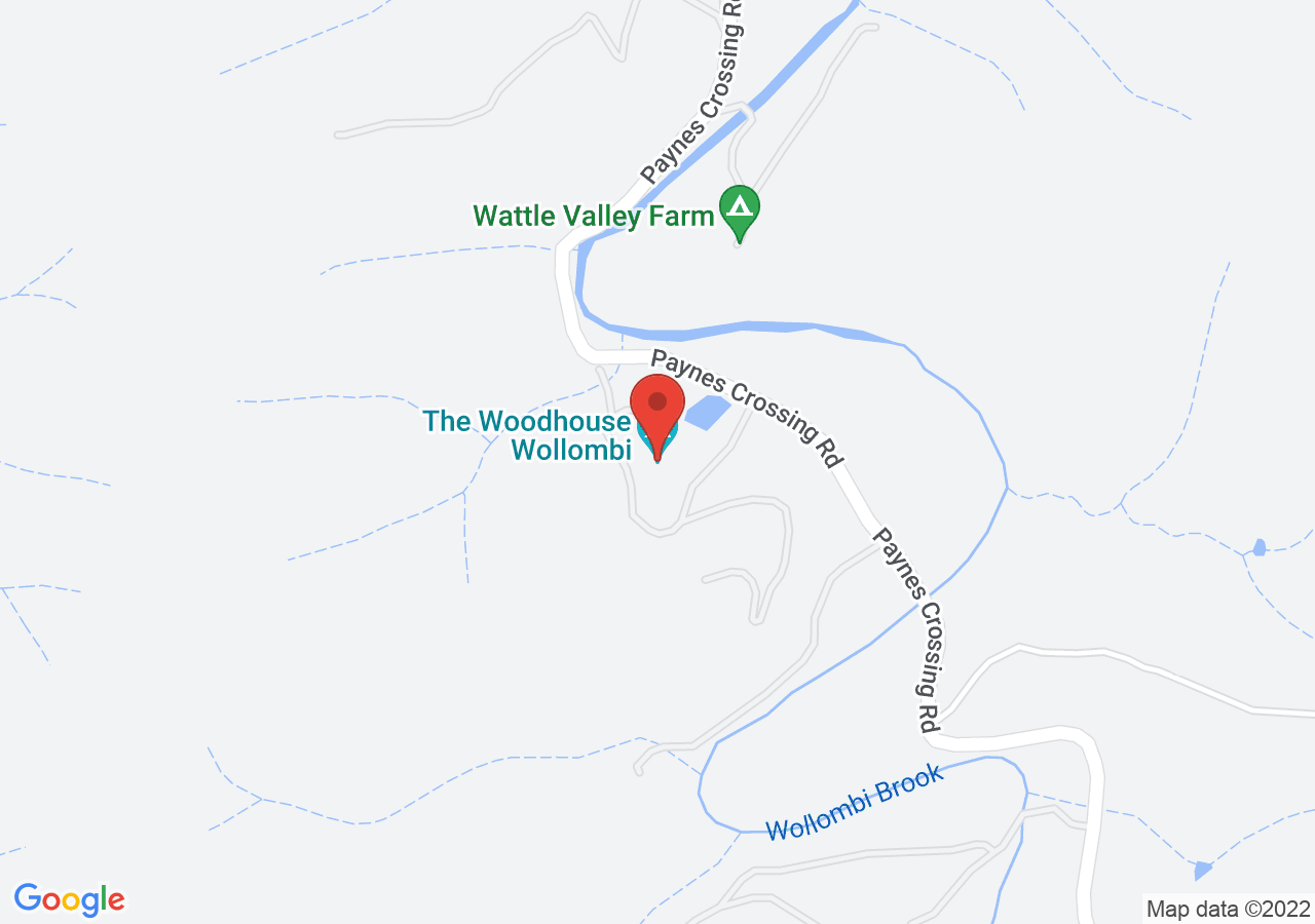 The location of The Woodhouse Wollombi