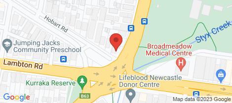 Location map for 5 Hobart Road New Lambton
