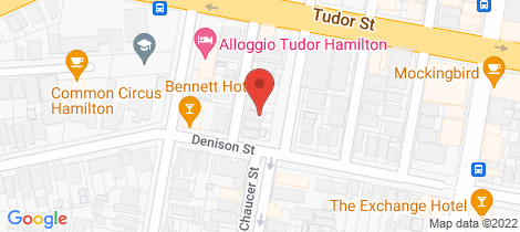 Location map for 19 Bridge Street Hamilton