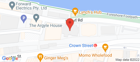 Location map for 207/265 Wharf Road Newcastle