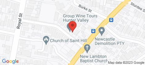 Location map for 3 William Street New Lambton