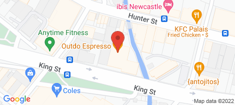 Location map for 1101/464 King Street Newcastle