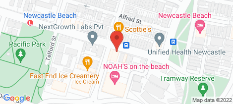 Location map for 6/19 Scott Street Newcastle East