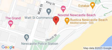 Location map for 701/75 Shortland Esplanade Newcastle