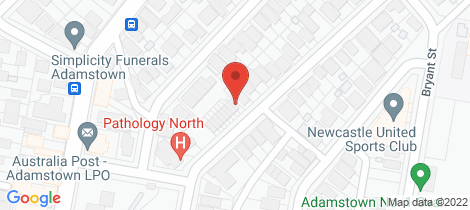 Location map for 192 Gosford Road Adamstown