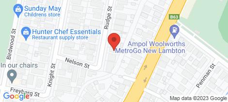 Location map for 21 Rudge Street New Lambton
