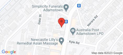Location map for 6/208 Brunker Road Adamstown