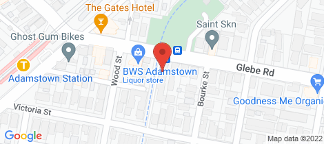Location map for 3/653 Glebe Road Adamstown