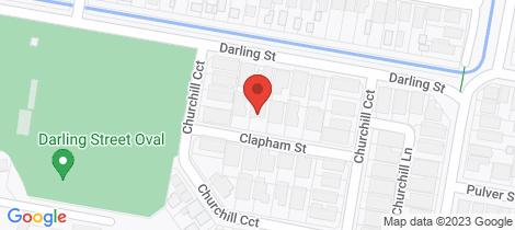 Location map for 10 Clapham Street Hamilton South