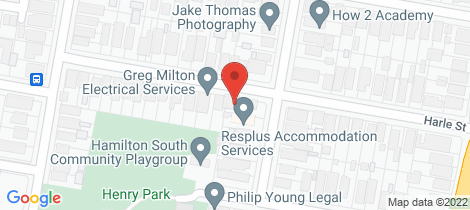 Location map for 19 Harle Street Hamilton South