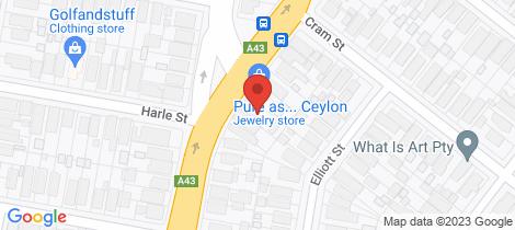 Location map for 125 Stewart Avenue Hamilton South