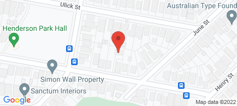 Location map for 20a Lockyer Street Merewether