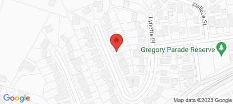 Location map for 70 Gregory Parade Kotara
