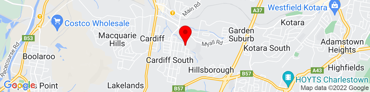 Google Map of -32.95, 151.66667