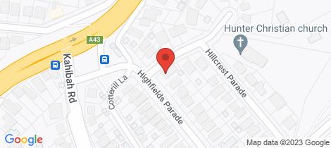 Location map for 6 Highfields Parade Highfields