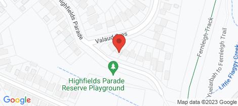 Location map for 60 Highfields Parade Highfields