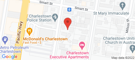 Location map for 1/36 Smith Street Charlestown
