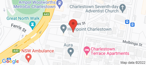 Location map for 201/6 Charles Street Charlestown