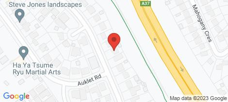 Location map for 18 Kestrel Avenue Mount Hutton
