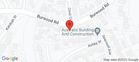 Location map for 122 Burwood Road Whitebridge