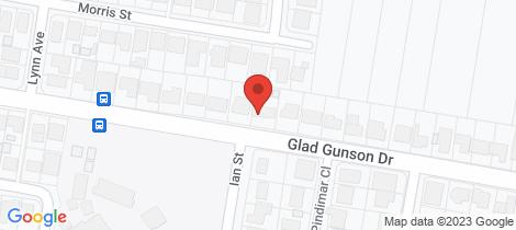 Location map for 58 Glad Gunson Drive Eleebana