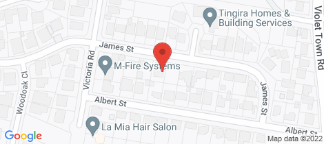 Location map for 18 James Street Tingira Heights