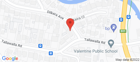 Location map for 1/2 Dilkera Avenue Valentine