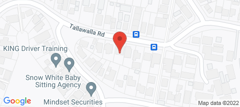 Location map for 20 Tallawalla Road Valentine
