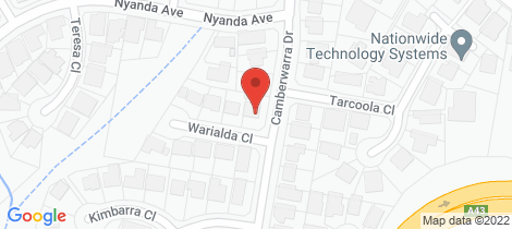 Location map for 2 Warialda Close Belmont North