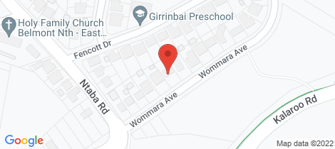 Location map for 27 Wommara Avenue Jewells
