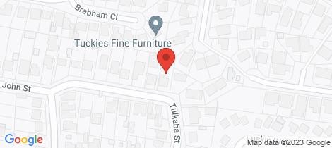 Location map for 31 John Street Belmont North