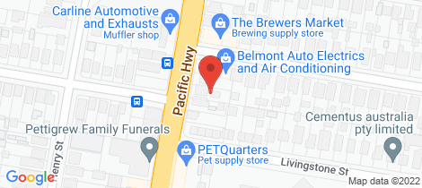 Location map for 459 Pacific Highway Belmont