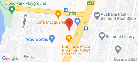 Location map for Shop 1/574 Pacific Hwy Belmont