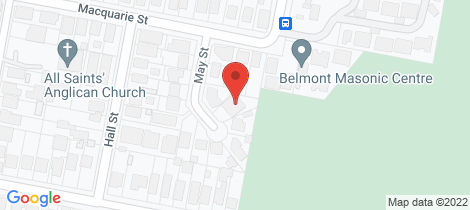Location map for 8 May Street Belmont