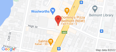 Location map for 7/600 Pacific Hwy Belmont
