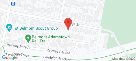 Location map for 10 George Street Belmont