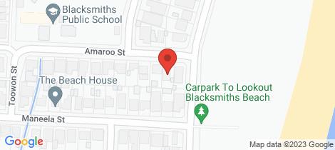 Location map for 4 Amaroo Street Blacksmiths