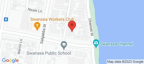 Location map for 3 Rawson Street Swansea