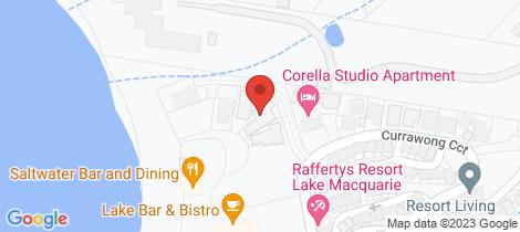 Location map for 3 Little Corella Cove Cams Wharf