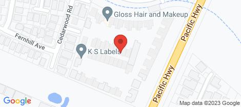 Location map for 2/14 Lomandra Terrace Hamlyn Terrace