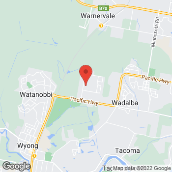 Map of O'Brien Plumbing Wyong at Unit 6/5B Lucca Road, Wyong, NSW 2295