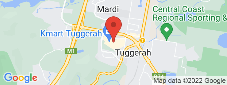 Map of Hog's Tuggerah