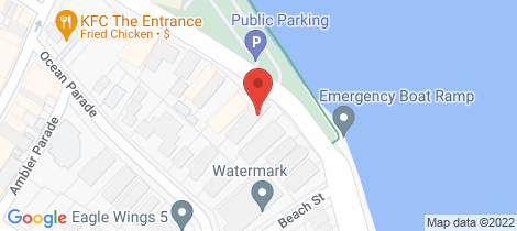 Location map for 1/11 Marine Pde The Entrance