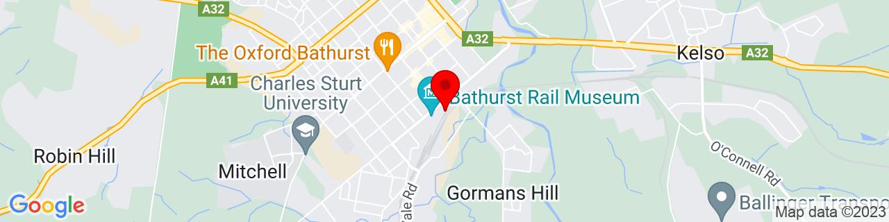 Google Map of -33.425622222222216, 149.58321388888888