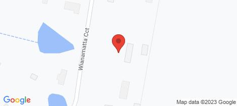 Location map for 13 Wianamatta Cct Cattai