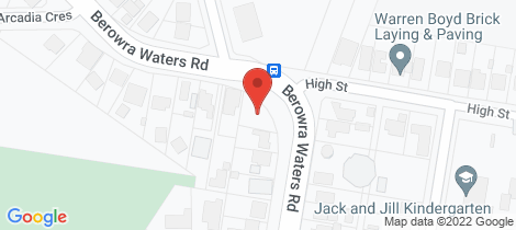 Location map for 57 Berowra Waters Road Berowra